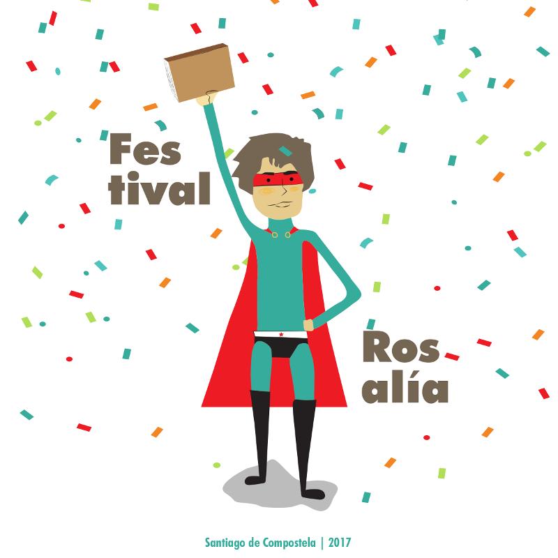 Deseño da imaxe gráfica do Festival Rosalía